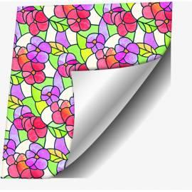 Самозалепващо фолио, цветя, 45х150 см