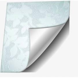 Самозалепващо фолио, бели листа, 67,5х150 см