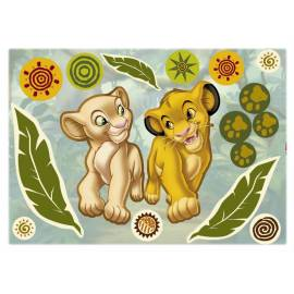 Декоративен стикер Komar Simba and Nala, 17 части, 50х70 см