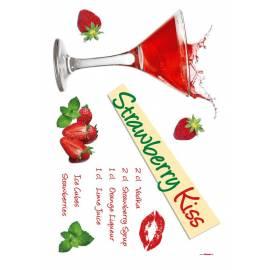 Декоративен стикер Komar Strawberry Kiss, 13 части, 100х70 см