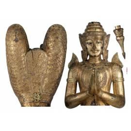 Декоративен стикер Buddha, 3 части, 100х70 см