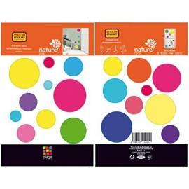 Декоративен стикер шарени балони, 11x10,5 см, 2 части