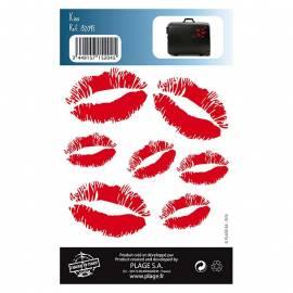 Декоративен стикер целувки, 11x10,5 см, 2 части