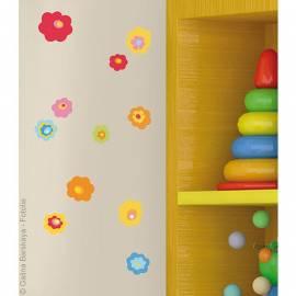 Декоративен стикер цветя, 11x10,5 см, 2 части