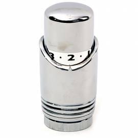 Термоглава за радиаторен кран, с течен агент, хром