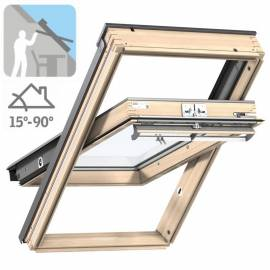 Imagén: Покривен прозорец Velux Стандарт - горно управление, двоен стъклопакет - 13 размера