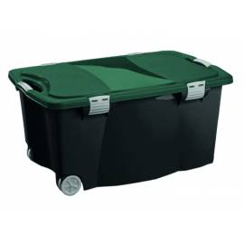 Кутия за съхранение 100 л , с капак и колелца 80х52х41 см