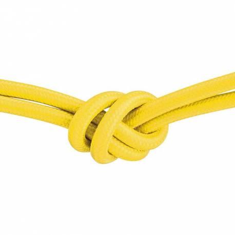 Текстилен кабел, жълт, 3x0,75 мм²