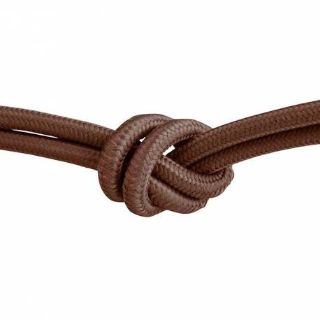 Текстилен кабел, кафяв, 3x0,75 мм²