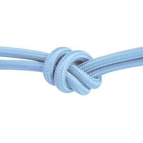 Текстилен кабел, светлосин, 3x0,75 мм²