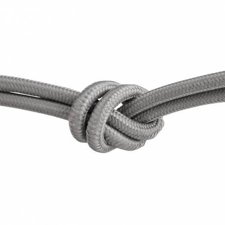 Текстилен кабел, сив, 3x0,75 мм²