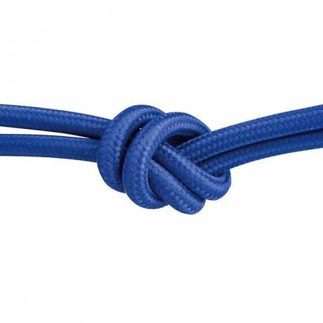 Текстилен кабел, тъмносин, 3x0,75 мм²