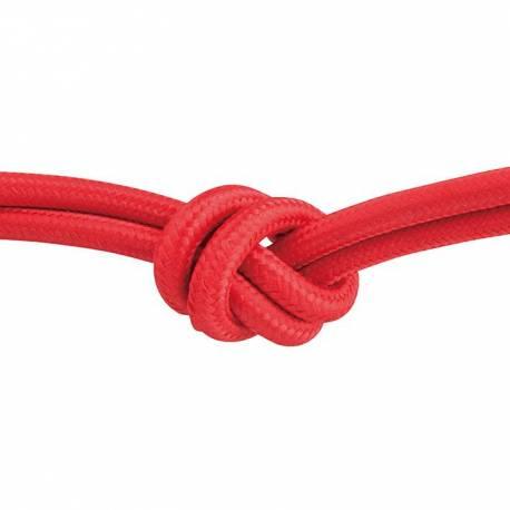 Текстилен кабел, червен, 3x0,75 мм²