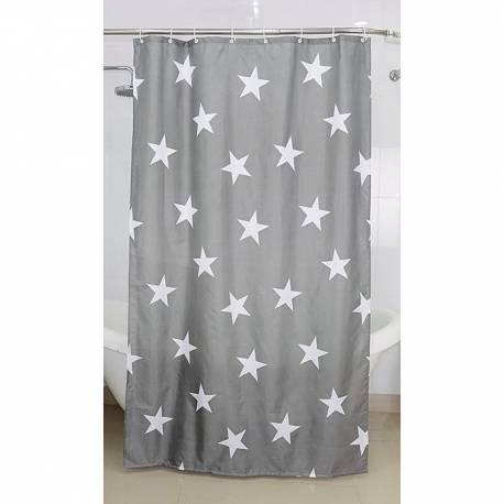 Текстилна завеса за баня Stars, 120х200 см