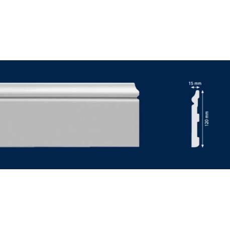 Перваз от HD polymer за под - 2м / 120мм