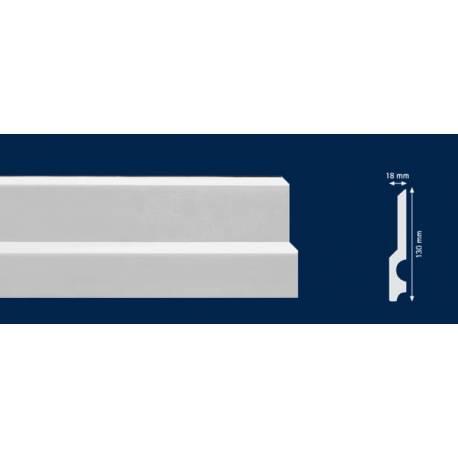 Перваз от HD polymer за под - 2м / 130мм