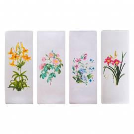Овлажнител за въздух, за отоплителни тела, декор Цветенца, керамика, 1 брой