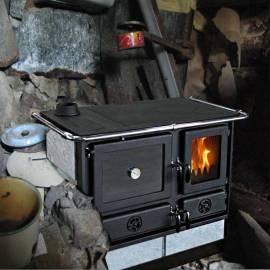 Imagén: Печка на твърдо гориво MAGNUM - 12 kW, ляв комин, камък