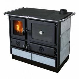 Imagén: Печка на твърдо гориво MAGNUM - 12 kW, десен комин, камък
