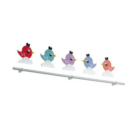 Аплик LED 3x1,8W 600lm бяло с 5 пиленца декор SPARINO