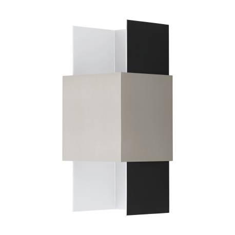 Аплик LED 2х5,4W 2x420lm черно/бяло/никел мат. VENTOSA