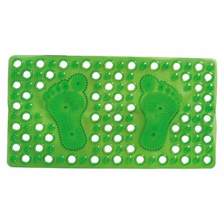 Постелка за вана, 66х36 см, зелена