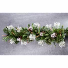 Коледена украса - гирлянд, канадски бор, 100 см