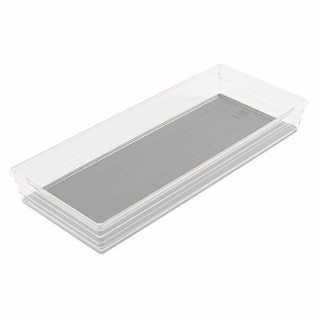Кутия за съхранение Sistemo, прозрачна, 37,5x15x5 см