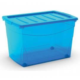 Кутия за съхранение Omni Box S, с капак, синя, 15 л