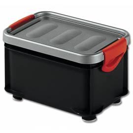 Кутия за съхранение Clipper, с капак, черна, 6 л