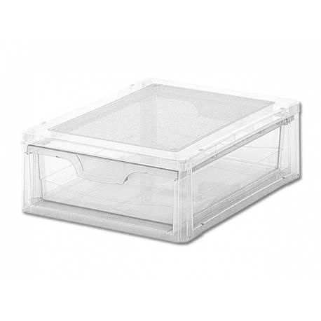 Кутия за съхранение, с чекмедже, прозрачна, 7 л
