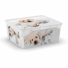 Кутия за съхранение C-Box, с капак, кучета и котки, 18 л