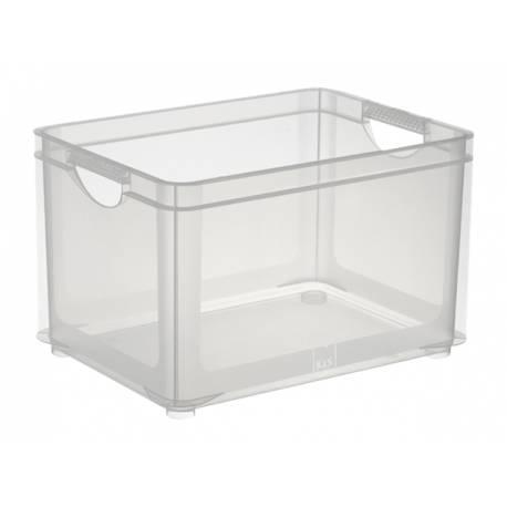 Кутия за съхранение, за подреждане една върху друга Combi, прозрачна, 30 л