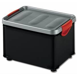 Кутия за съхранение Clipper, с капак, черна, 20 л