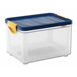 Кутия за съхранение Clipper M, с капак, прозрачна, 20 л