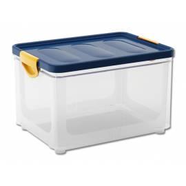 Кутия за съхранение Clipper L, с капак, прозрачна, 33 л