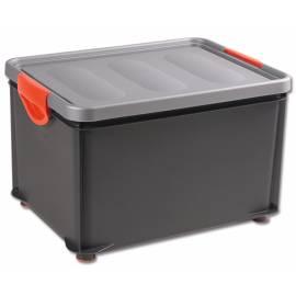 Кутия за съхранение Clipper, с капак, черна, 33 л