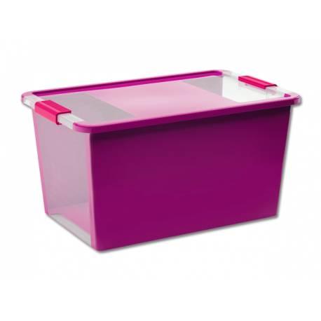Кутия за съхранение, с капак, лилава, 40 л