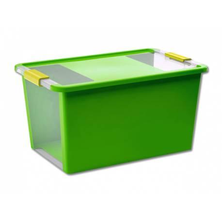Кутия за съхранение, с капак, зелена, 40 л