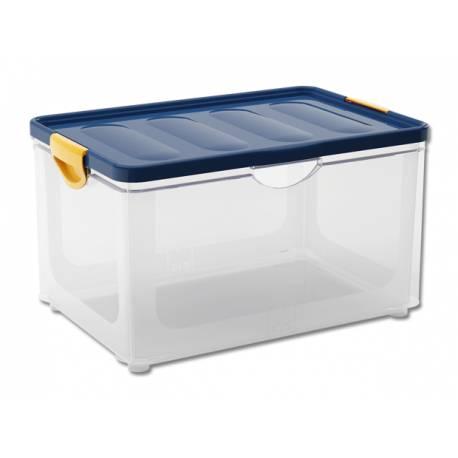 Кутия за съхранение Clipper XL, с капак, прозрачна, 55 л