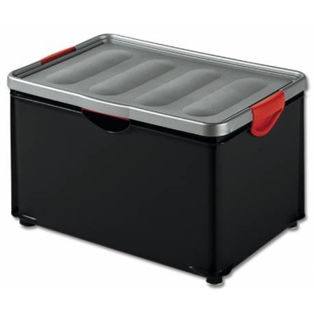 Кутия за съхранение Clipper, с капак, черна, 55 л