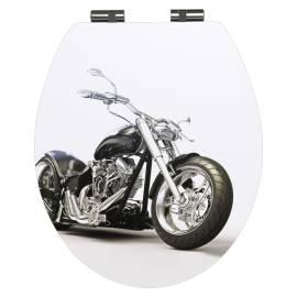 Тоалетна седалка Motorbike, забавено падане, дърво
