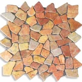 Imagén: Мозайка - 30х30 см, червена, мат