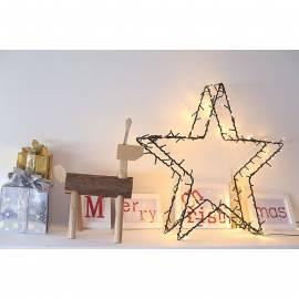 Коледна LED звезда, 138 диода, 60х60 см