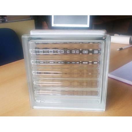 Стъклени блокчета -оребрени 19x19x8 см