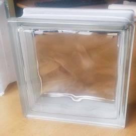 Стъклени блокчета - прозрачни - 19x19x8 см