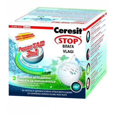 Таблетки за влагоабсорбатор PowerTAB 3 в 1, пролетно ухание, 2х300 г