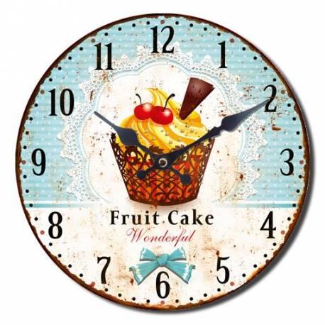 Стенен часовник Ретро 30 см - торта