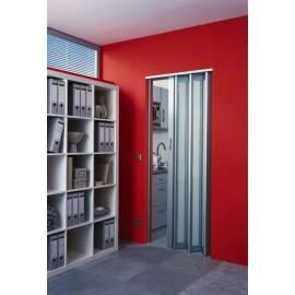 Сгъваема врата, остъклена-мат, 86х205 см, алуминий