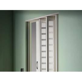 Сгъваема врата, остъклена, 86х205 см, бяла
